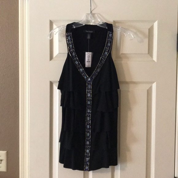 f7ae36c8d659e Women s GORGEOUS black decorative top. NWT. White House Black Market